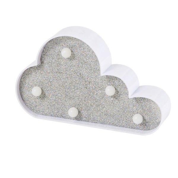 luminaire lampe LED nuage gris