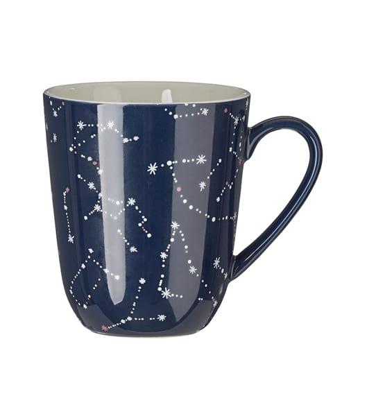 mug bleu étoiles constellation hema