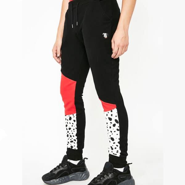pantalon rouge noir