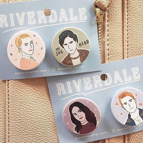 Badges Riverdale Betty, Jughead, Veronica, Archie