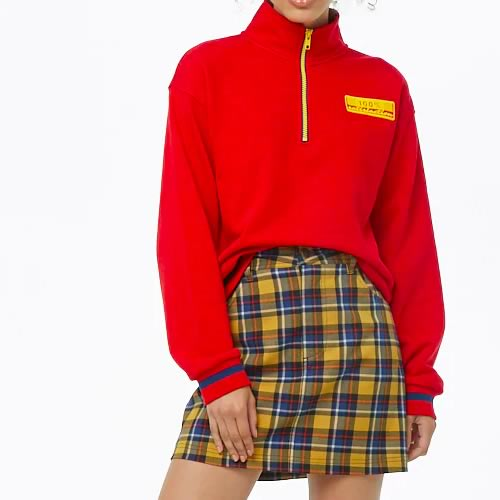 sweat zip col montant rouge Forever 21
