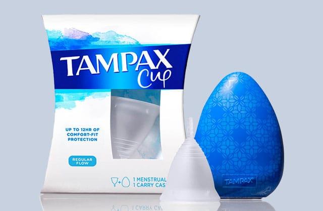 Tampax lance sa coupe menstruelle