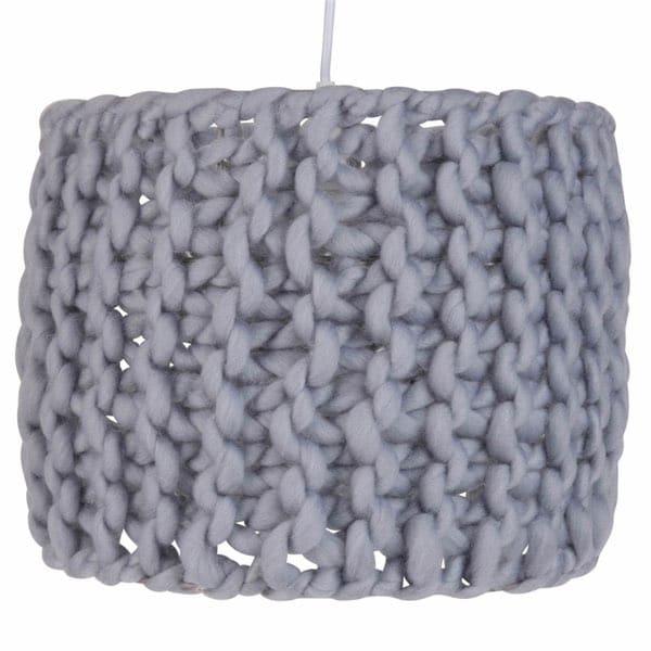 abat jour suspension tricot coton maille