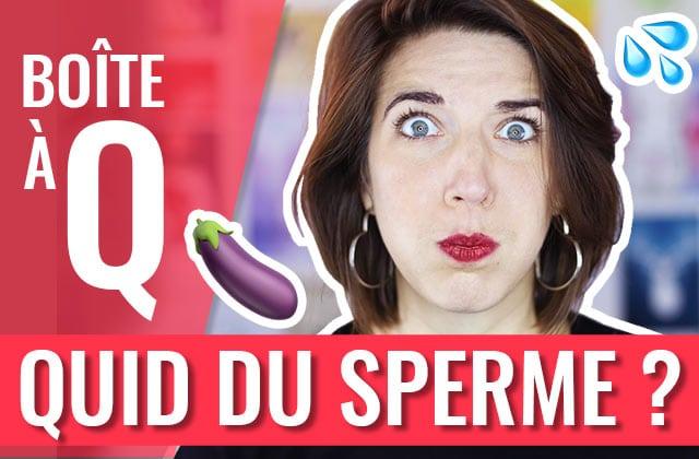 Que faire du sperme si j'avale pas ?