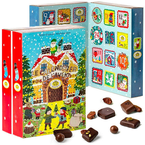 calendrier avent chocolat