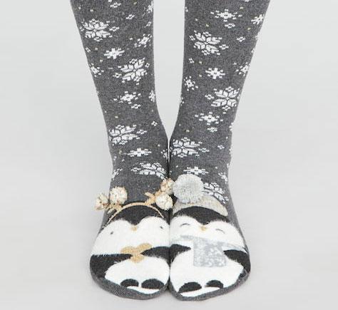 chaussettes noel pingouin