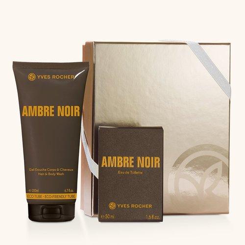 coffret parfum homme ambre noir