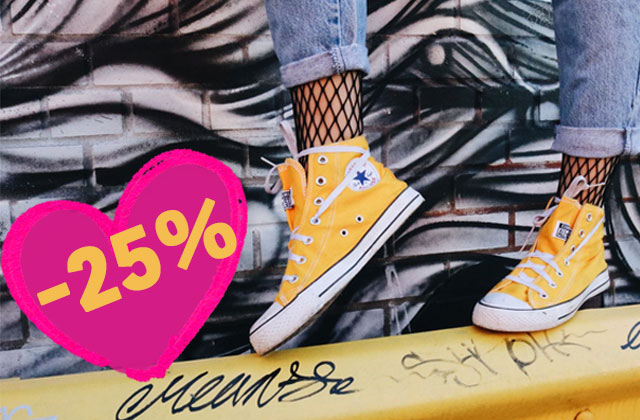 Bon plan Converse : -25% sur les paires personnalisées!