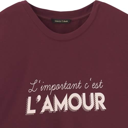 sweat shirt amour camaieu deedee