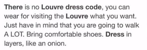 dress code louvre