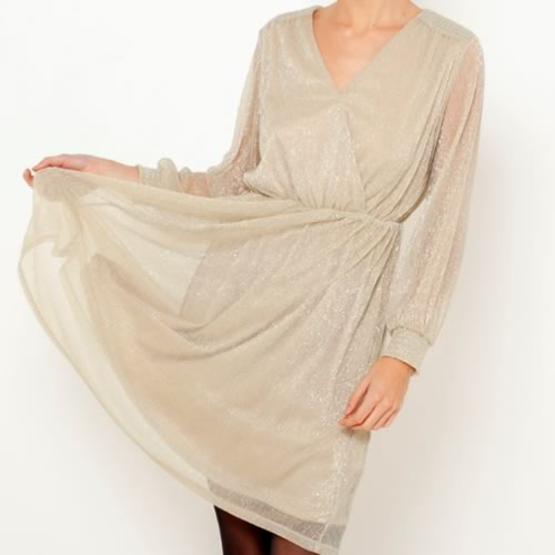 robe noel dorée pas chere camaieu