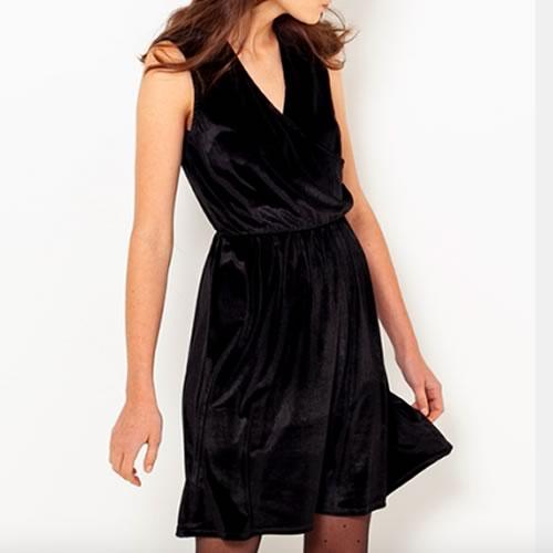 robe en velours noire camaieu