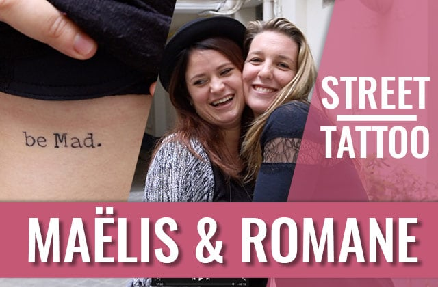 Le Street Tattoos de l'amitié de Maelys et Romane