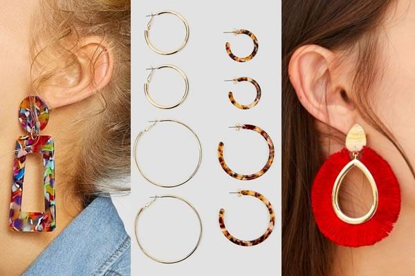 boucles d'oreilles stradivarius promo
