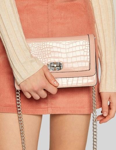 sac rose croco