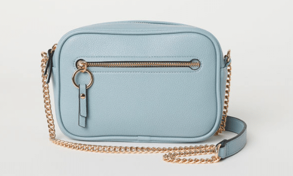 sac bleu bandouliere