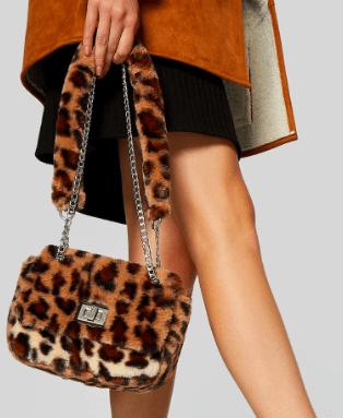 sac fourrure leopard