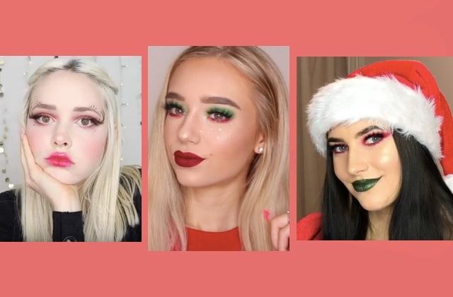 Maquillage Noël  idées de makeup, tutos, how to faciles