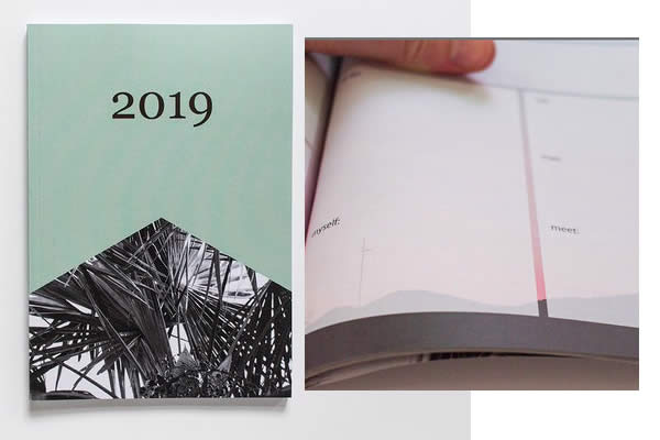 agenda 2019 green etsy