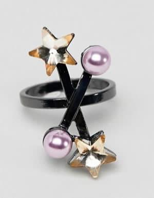 bagues étoiles perles