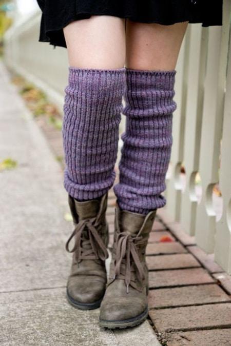 chaussettes parme violettes