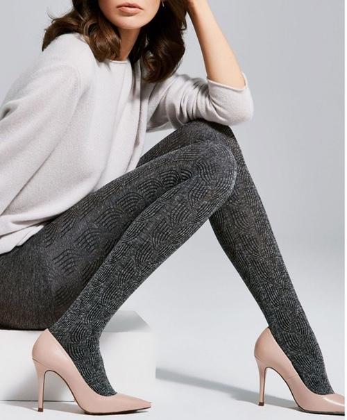 collants gris chauds