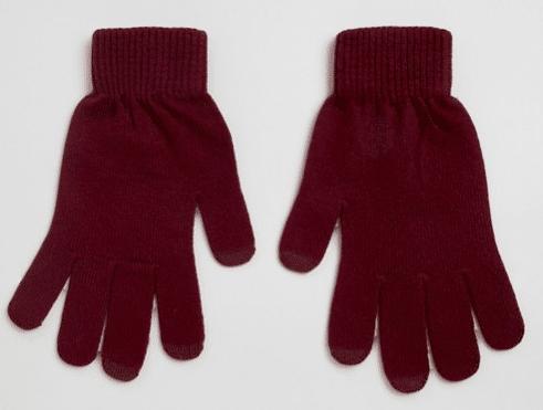 gants bordeaux