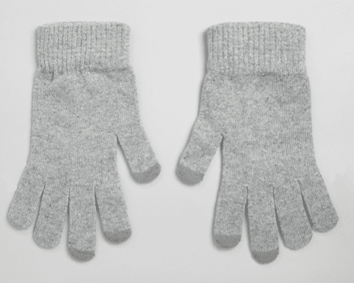 gants gris polyester recyclé