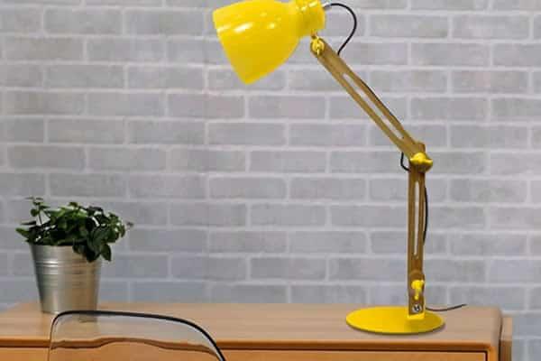 lampe jaune la redoute pas chere
