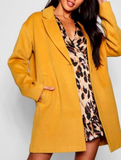 manteau moutarde