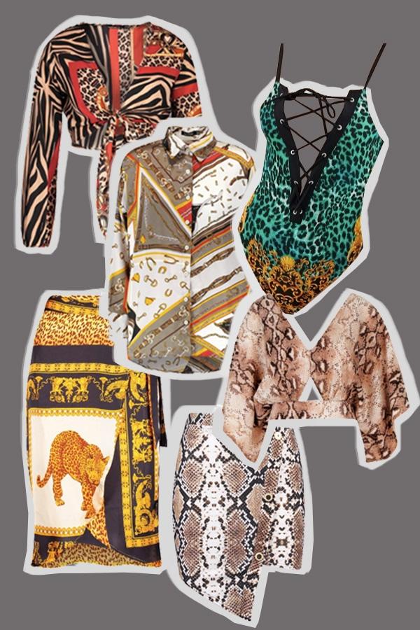 imprimés foulards et animaux