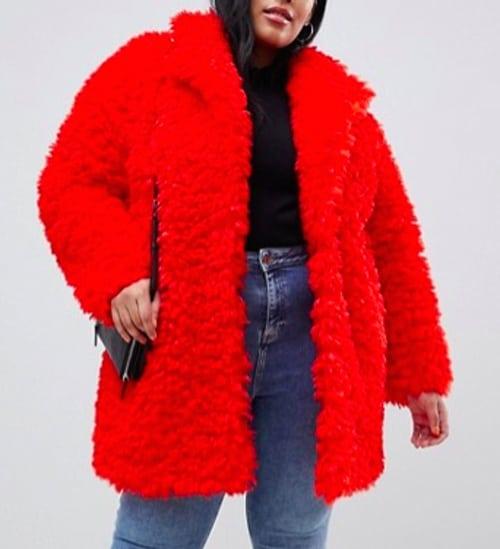 veste rouge peluche