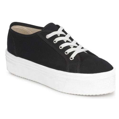 baskets compensées noires