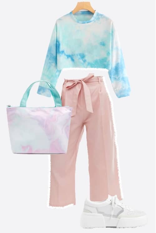tie and dye look