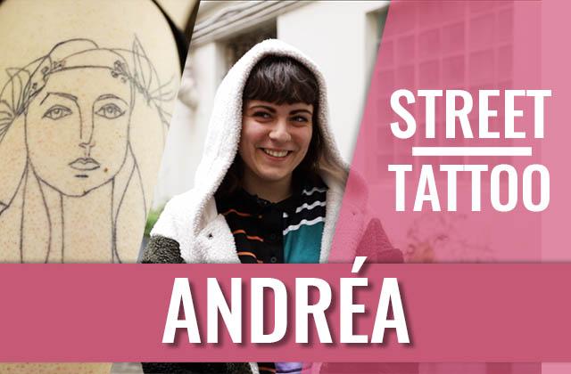 Street Tattoos sous la pluie avec Andrea!