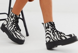 bottines zebre