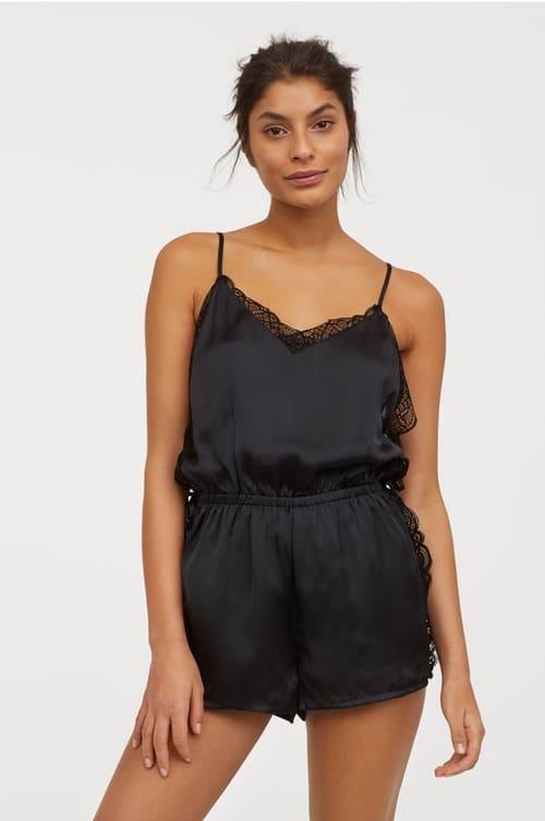 combinaison pyjama noire