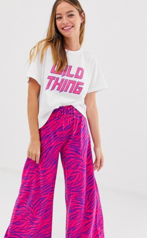 pyjama rose zebre