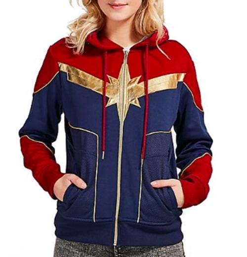veste capuche Captain marvel