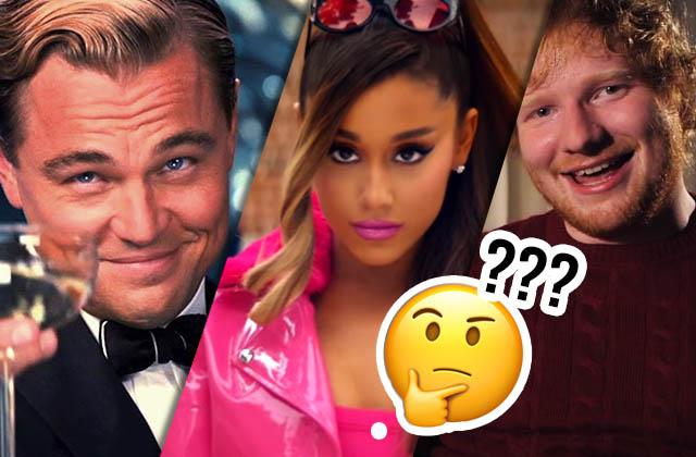 Leonardo DiCaprio, Ariana Grande, Ed Sheeran et Justin Bieber réunis… Pourquoi donc ?