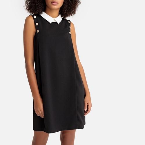robe noire col blanc