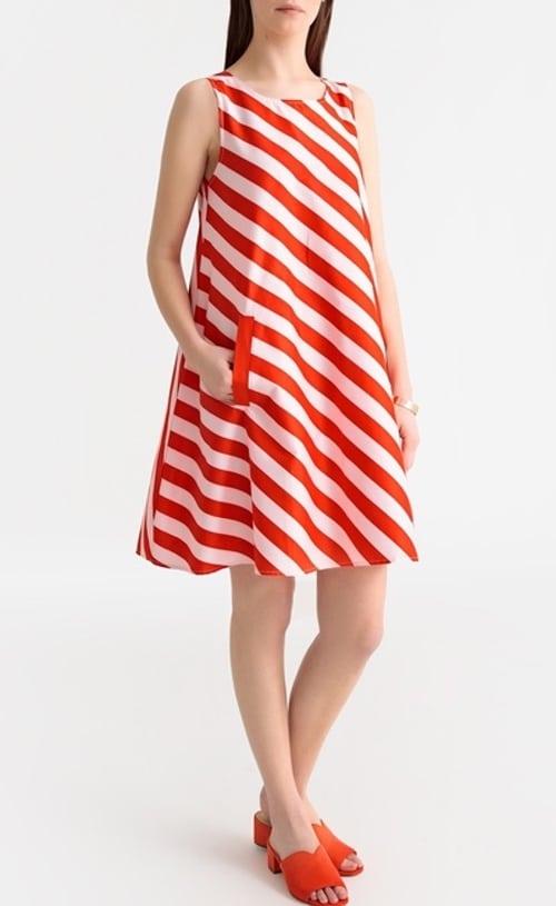 robe rouge rayures