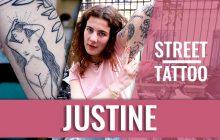 Le Street Tattoos de Flèche Love, jeune femme TRÈS tatouée
