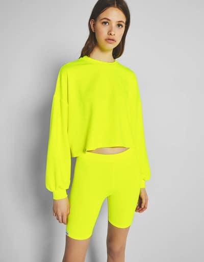 sweat jaune fluo