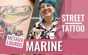 Métaux Lourds et ses tatouages qui la font marrer!