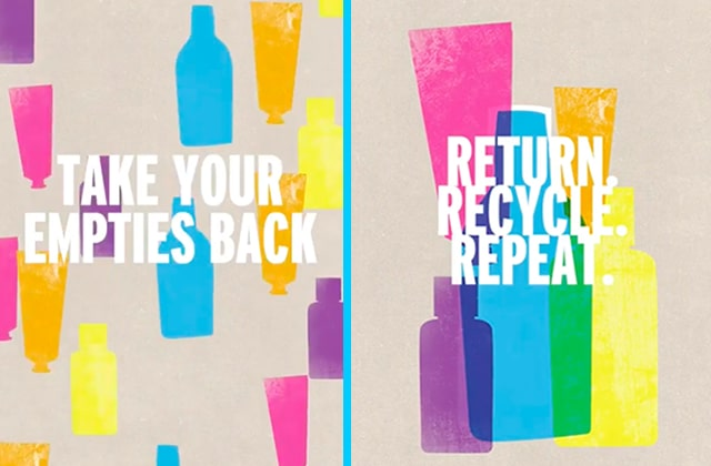 the body shop recyclage produits finis