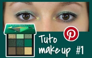 tuto makeup vert facile pinterest