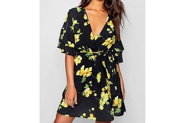 robe florale boohoo