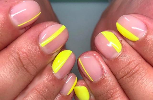 Les « accents nails» néon, la façon subtile d'avoir une manucure fluo !
