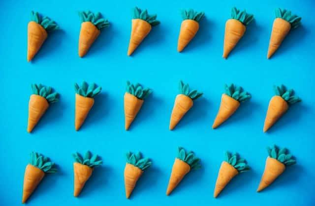 zoom beauté sur la carotte
